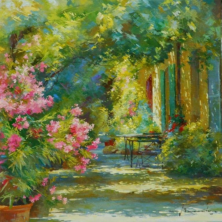 cuadros-de-jardines-con-flores
