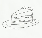 Desenho de pedaço de bolo para pintar. Desenho de pedaço de sobremesa para .