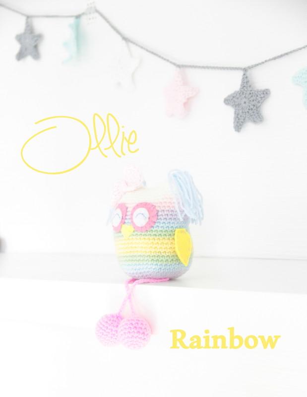 Amigurumi Ollie rainbow