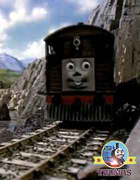 Sodor old railway coach Henrietta Thomas and friends Toby the tank engine and the stout gentleman