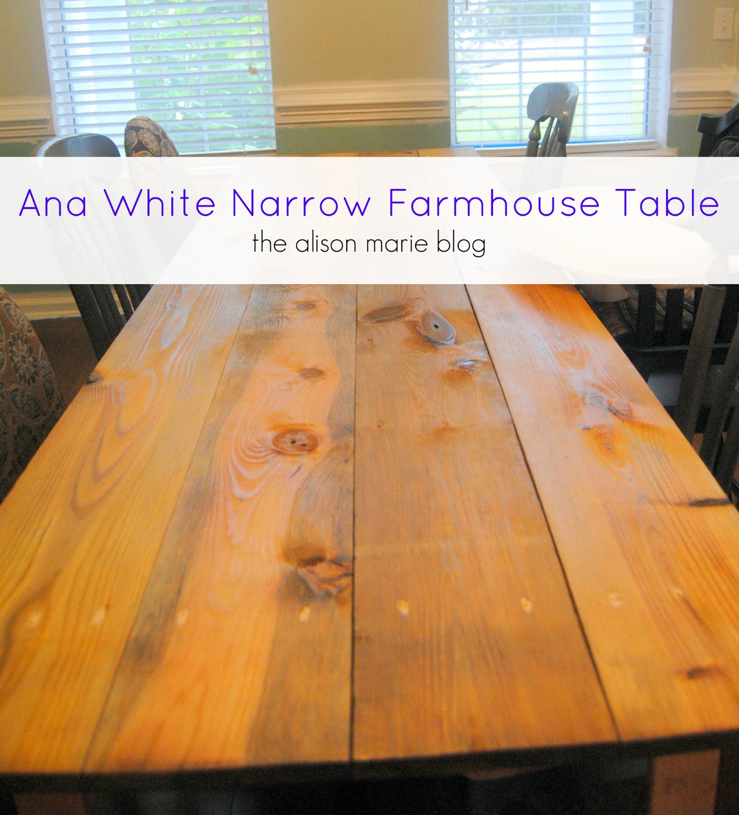 Best woodworking plans free 2015 Narrow farmhouse table plans
