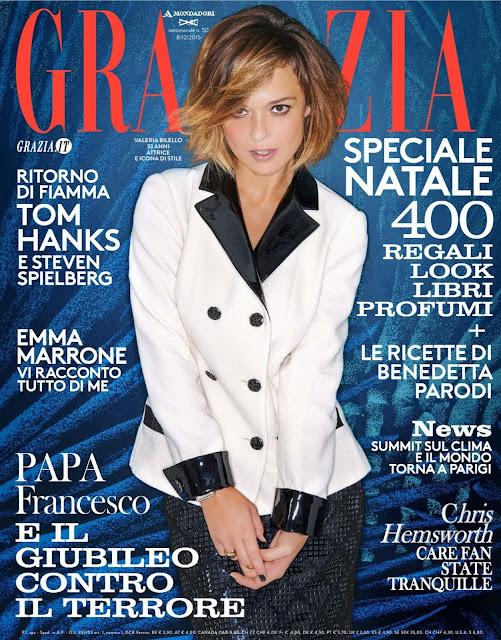 Actress, Model, @ Valeria Bilello - Grazia Italy, December 2015