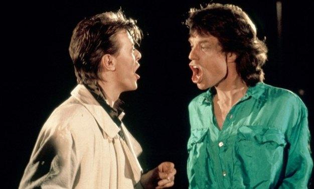 David Bowie e Mick Jagger no clipe 'Dancing in the Street' (Foto: Reprodução/YouTube)