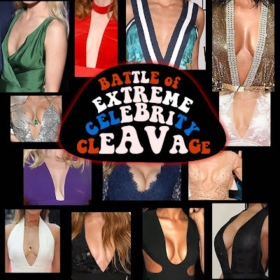 Battle Extreme Celebrity Cleavage boobage funny