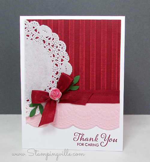 Thank You card with Simply Pressed Clay Flower