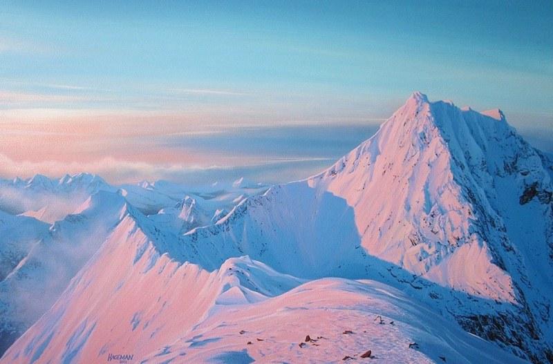 Im genes arte pinturas lindos cuadros al leo de fr os - Paisajes nevados para pintar ...