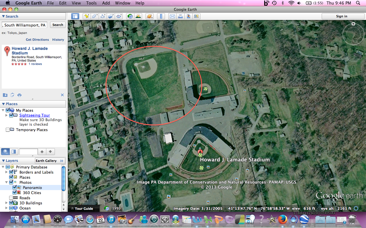 that is a relatively up to date image of the complex in south williamsport used for the little league world series obviously you can tell that it s not