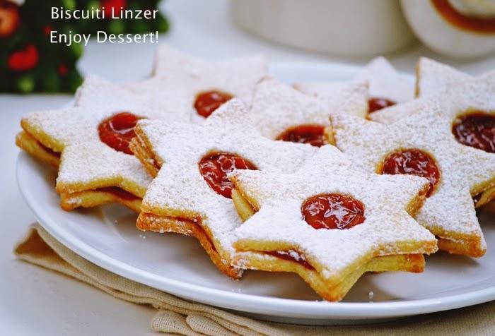 Biscuiti Linzer - Linzer cookies