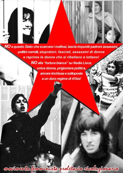 Dal 20° del MFPR, Mozione per le prigioniere politiche e contro la tortura bianca su Nadia Lioce!