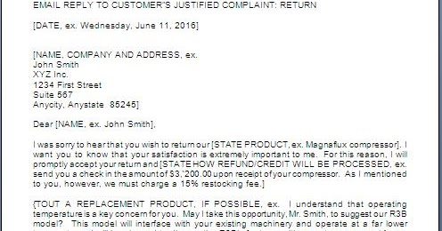 Customer Complaint Response Letter Sample Fax Cover Letter Fax