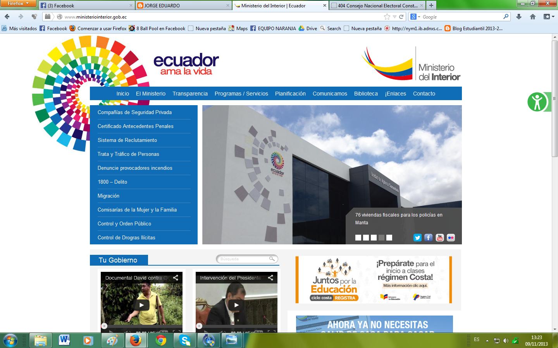 Diario de jenniffer estefania for Web ministerio del interior