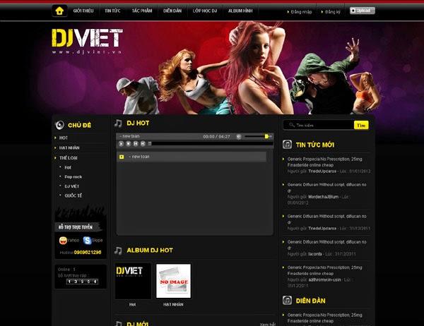thiết kế website giải trí
