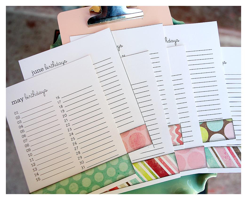 Birthday Calendars : Birthday calendar clipboard infarrantly creative