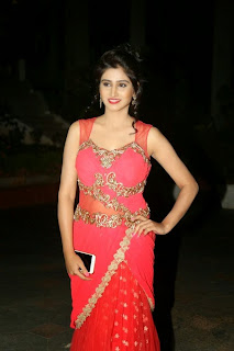 Shamili Transparent Red Saree Latest Unseen Pictureshoot (1).JPG