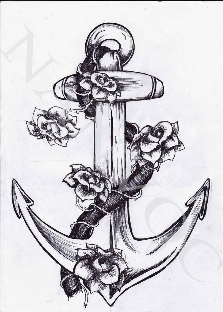 Anchor Heart Drawing i Love The Anchor With The