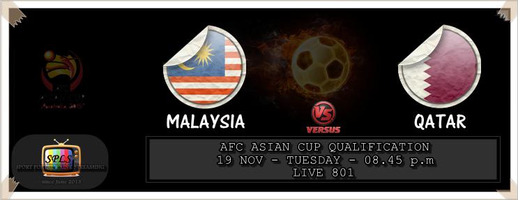 Live Streaming Malaysia vs Qatar 19 November 2013