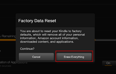 reset Kindle Fire HD to default
