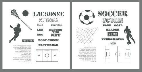 Stampin' Up! soccer & lacrosse themed digital downloads