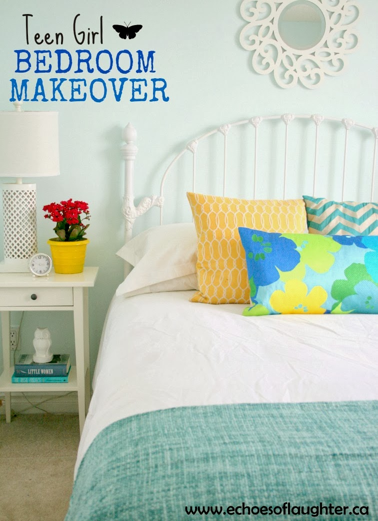 Teen girl bedroom makeover echoes of laughter for Bedroom makeover