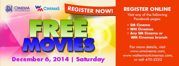 SM Cinema and Walter Mart Cinema Have Free Movie Day December 6, 2014