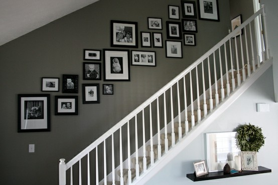 stairway photo walls | Through the Front Door