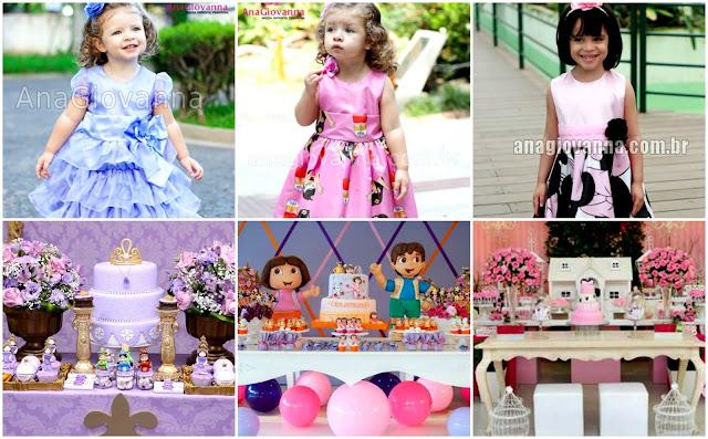Festa da Princesa sofia, Dora Aventureira e Minnie Rosa: Ideias de vestidos e decoração