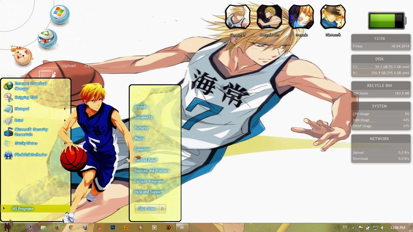 Google themes kuroko no basket -  Theme Win 7 Kise Ryouta Kuroko No Basket By Irsyada007