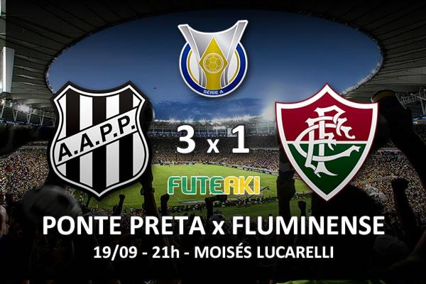 Veja o resumo da partida com os gols e os melhores momentos de Ponte Preta 3x1 Fluminense pela 27ª rodada do Brasileirão 2015.