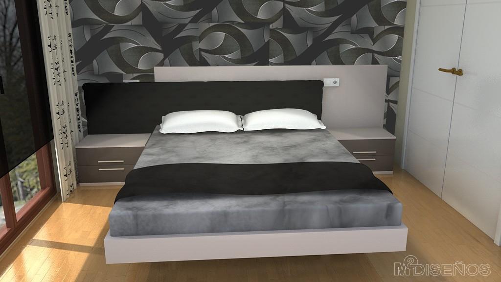 Piso completo proyecto 3d del dormitorio de matrimonio for Papel pintado para habitacion matrimonio