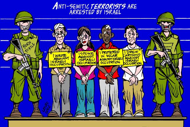 Criticar Israel não é antissemitismo - Charge Latuff 8