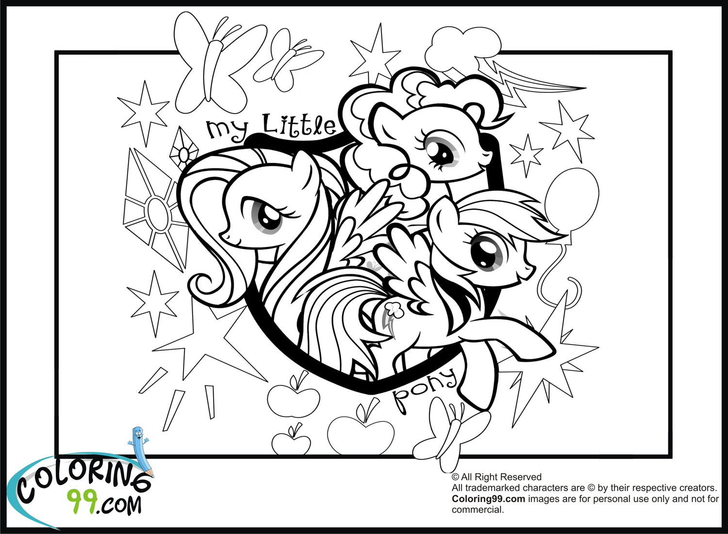 Coloring Pages My Little Pony Friendship Is Magic My Pony Equestria Coloring Pages To Print Free