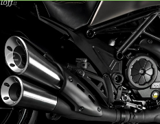 Ducati Diavel, la moto de titanio