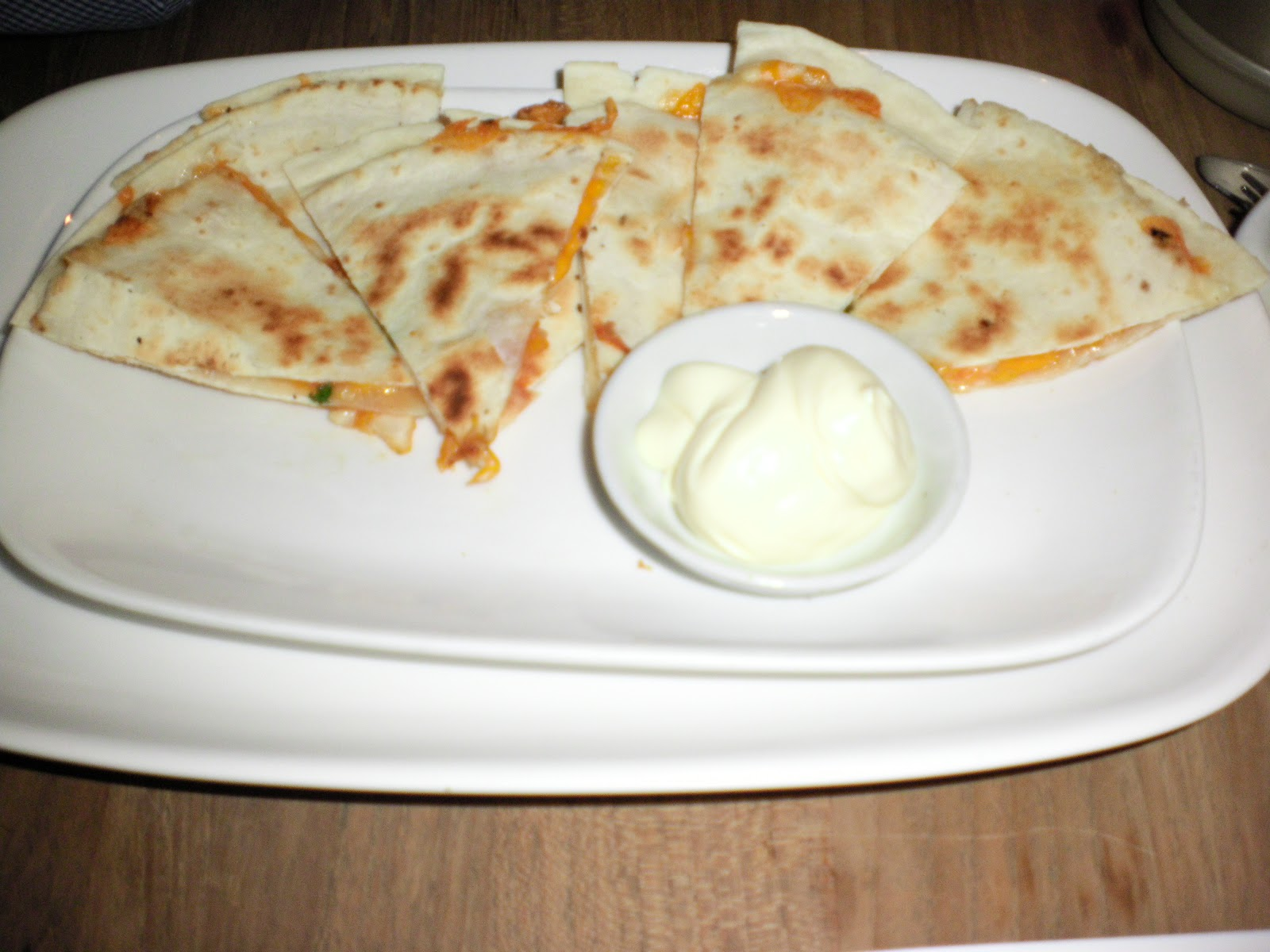 Cheese Quesadilla-Egg Benedict
