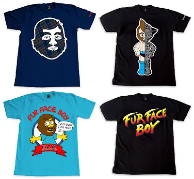 Fur Face Boy Series 6 T-Shirt Collection - FFB Tartan Plaid, Astro Fur 2.0, FFB Springfield & Fur Fighter Boy T-Shirts