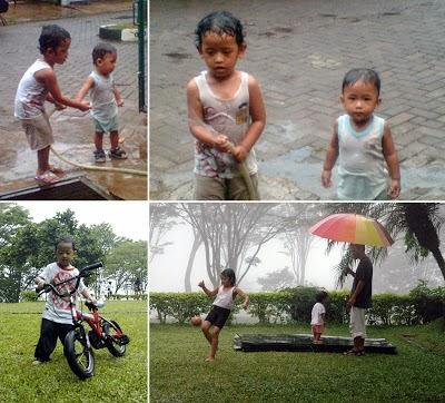 mandi hujan