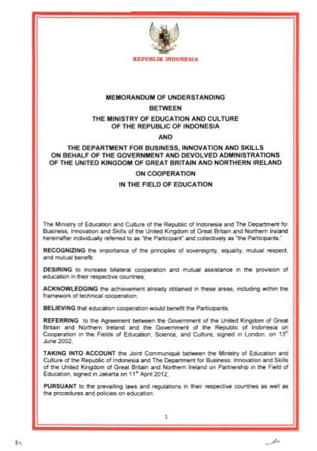 Memorandum Of Understanding Mou Cansliaranta