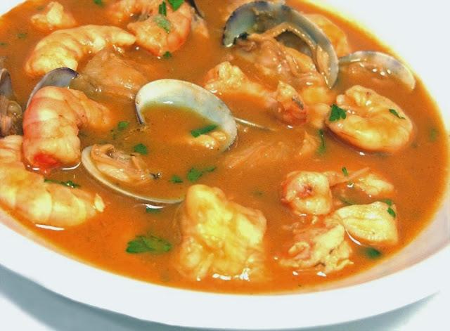 D a a d a sopa de pescado y marisco for Canelones de pescado y marisco