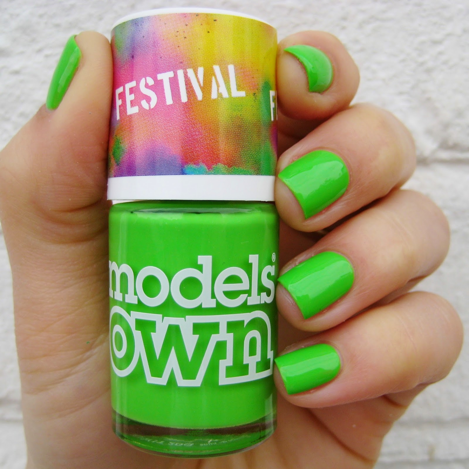 Models Own Festival Nail Polish Green Fields