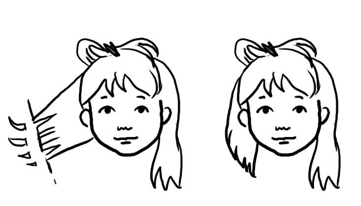 hur klipper man upp håret