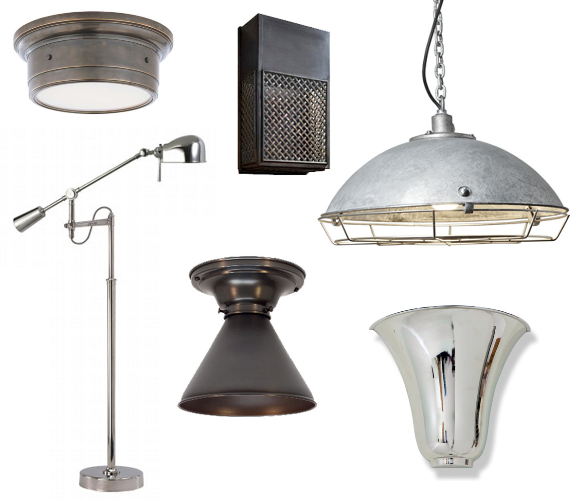 Restoration Hardware Flush Mount Light: Cool, Couture And Everything In Between: Manly Monday