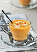 Capuccino de zanahorias a la naranja