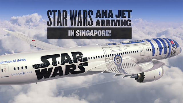Star Wars R2-D2 ANA Jet in Singapore