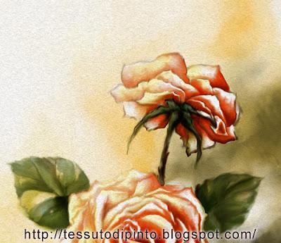 Composizione floreale pittura digitale particolare a colori