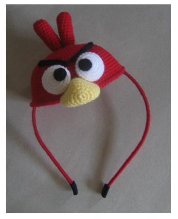 Angry Bird Pattern – Red Bird | gigabitsofyarn