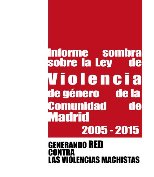 Informe sombra Comunidad de Madrid
