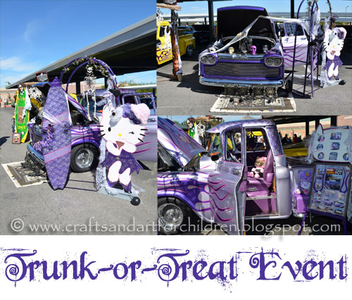 photos of cars decorated for Trunk or Treat {Halloween}