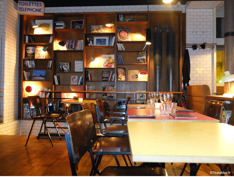 Restaurant américain Danny Hills Paris 19eme US food burgers nachos déco 50s
