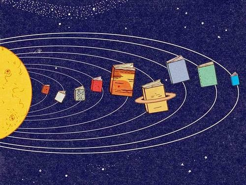 Livros, planetas do universo
