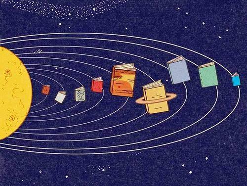 Livros, planetas do universo