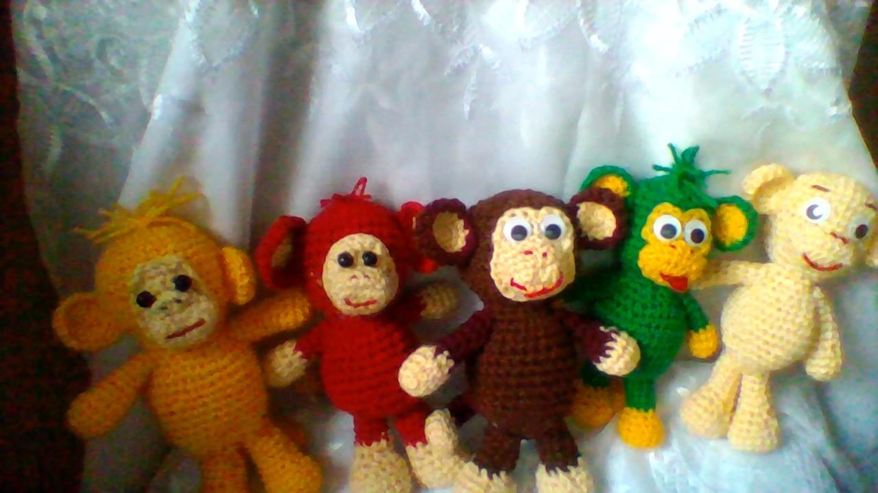 Вязание обезьянки бони 47